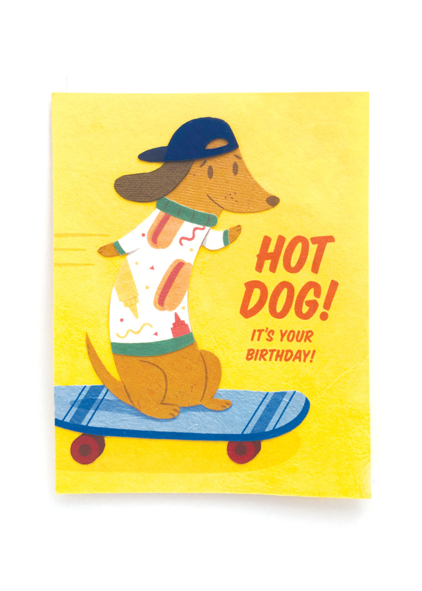 Good Paper Hot Dog Birthday Card