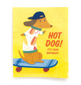 Good Paper Hot Dog Birthday Card