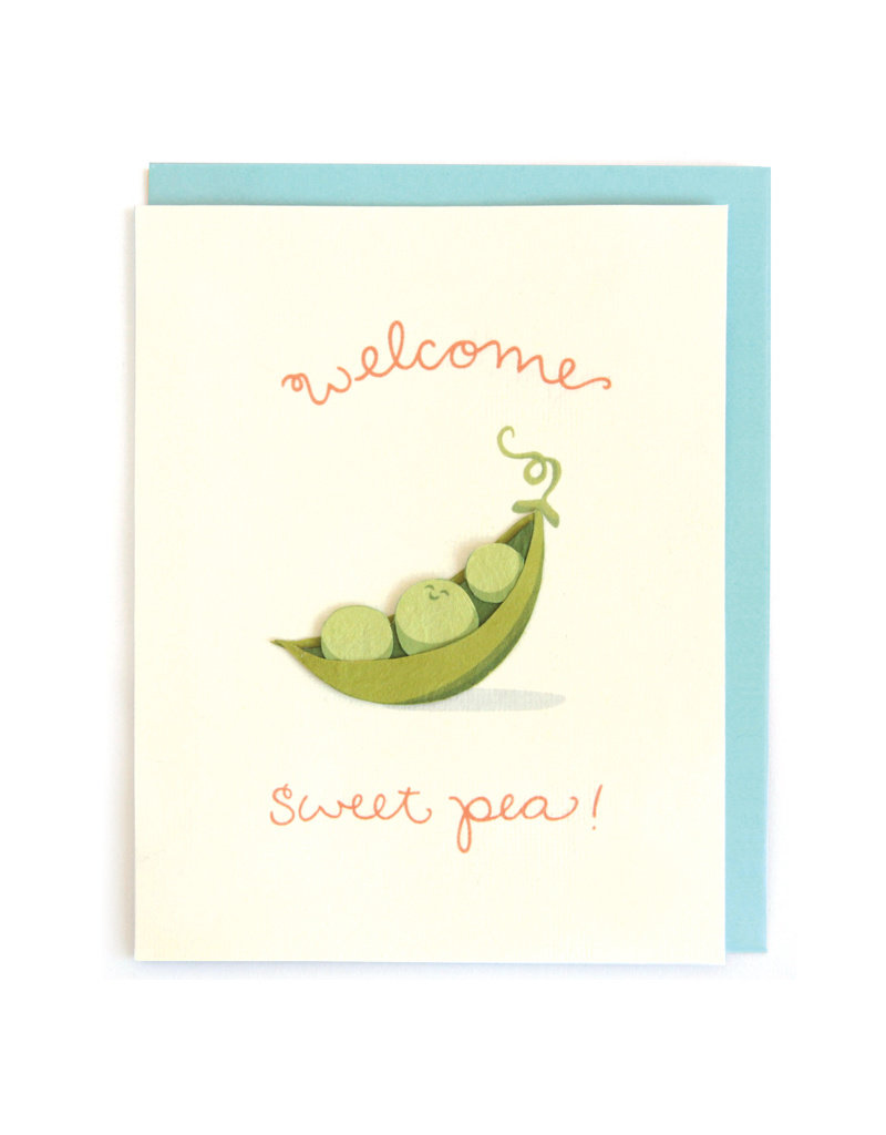 Good Paper Welcome Sweet Pea Card