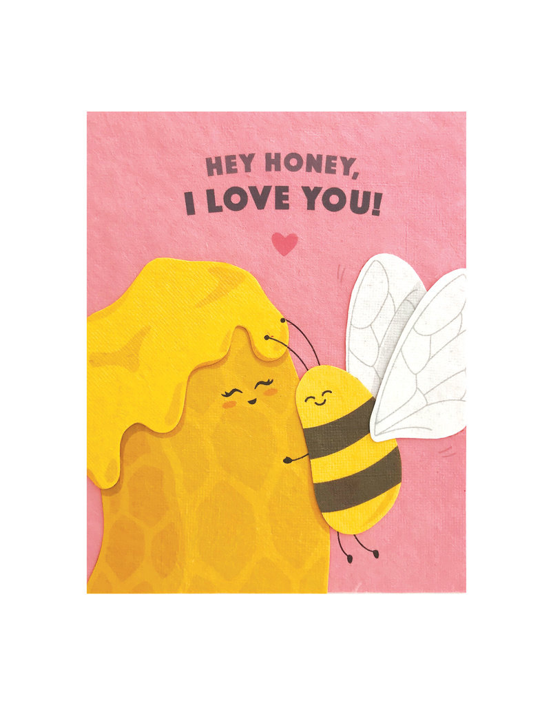 Good Paper Hey Honey Love Card