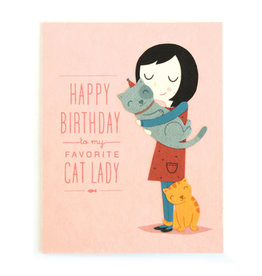 Good Paper Cat Lady Birthday Card