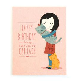 Good Paper Cat Lady Birthday Card