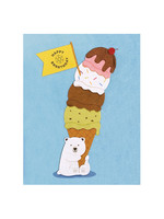 Good Paper Polar Bear Birthday Card