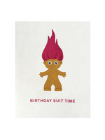 Good Paper Birthday Suit Time Card