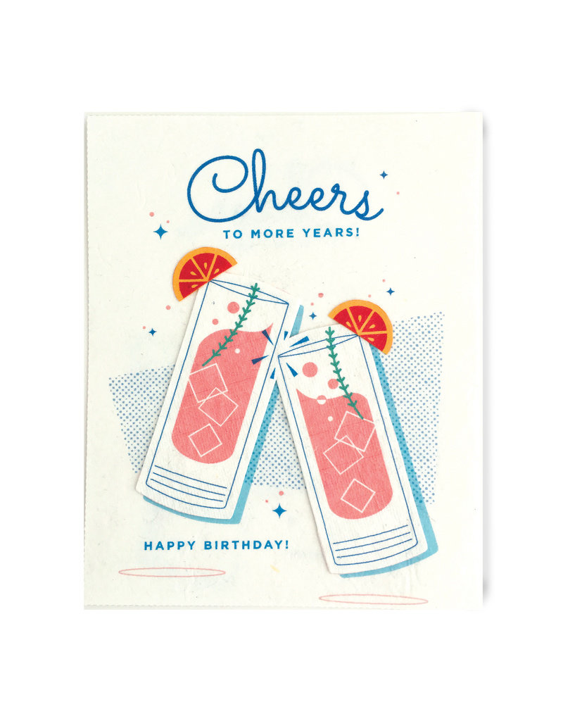 Good Paper Craft Cocktail Birthday Card