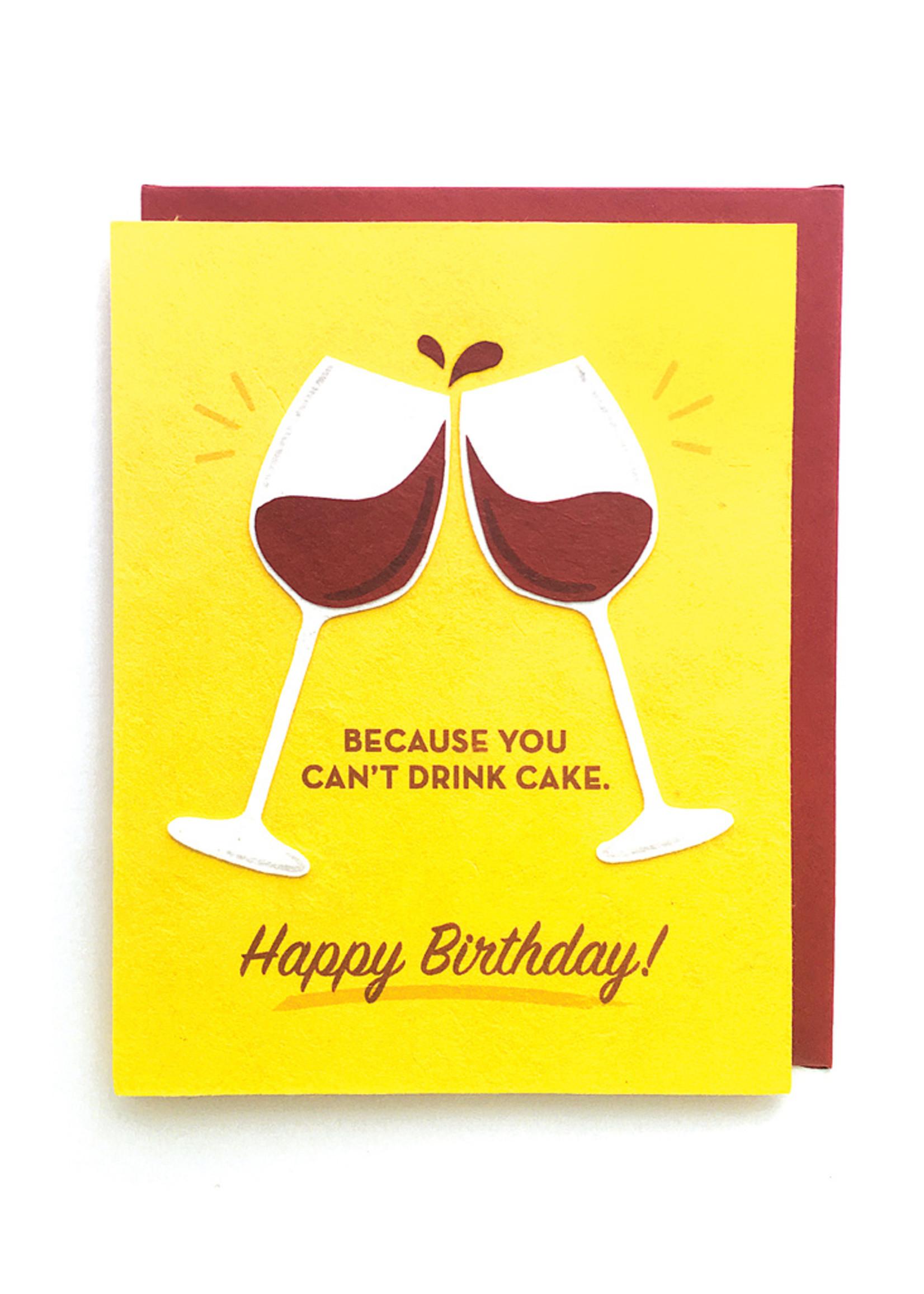Good Paper Wine Birthday Card