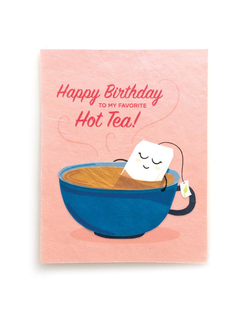 Good Paper Hot Tea Birthday Card