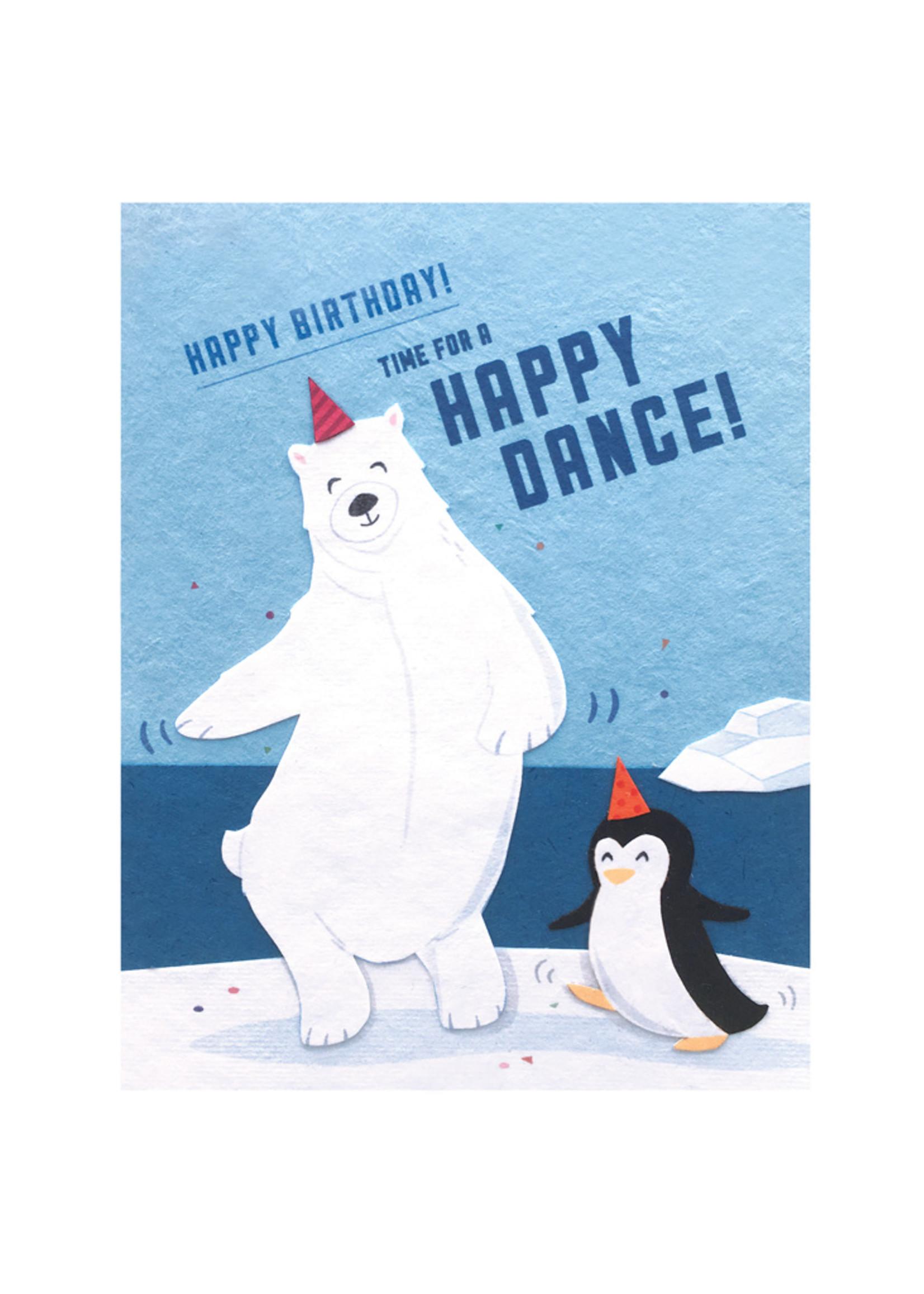 Good Paper Happy Dance Birthday Card