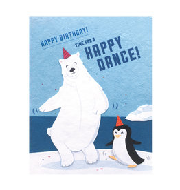 Good Paper Happy Dance Birthday Card