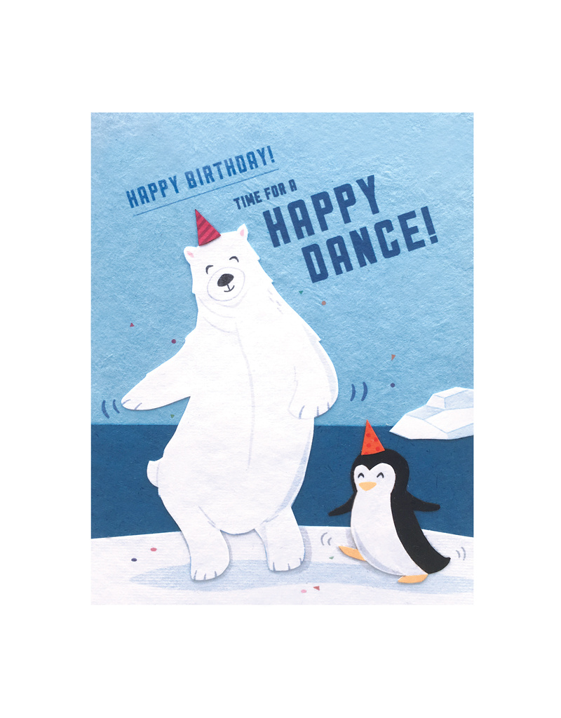 Groovy Happy Dance Birthday Card From Humankind Fair Trade Humankind Personalised Birthday Cards Veneteletsinfo