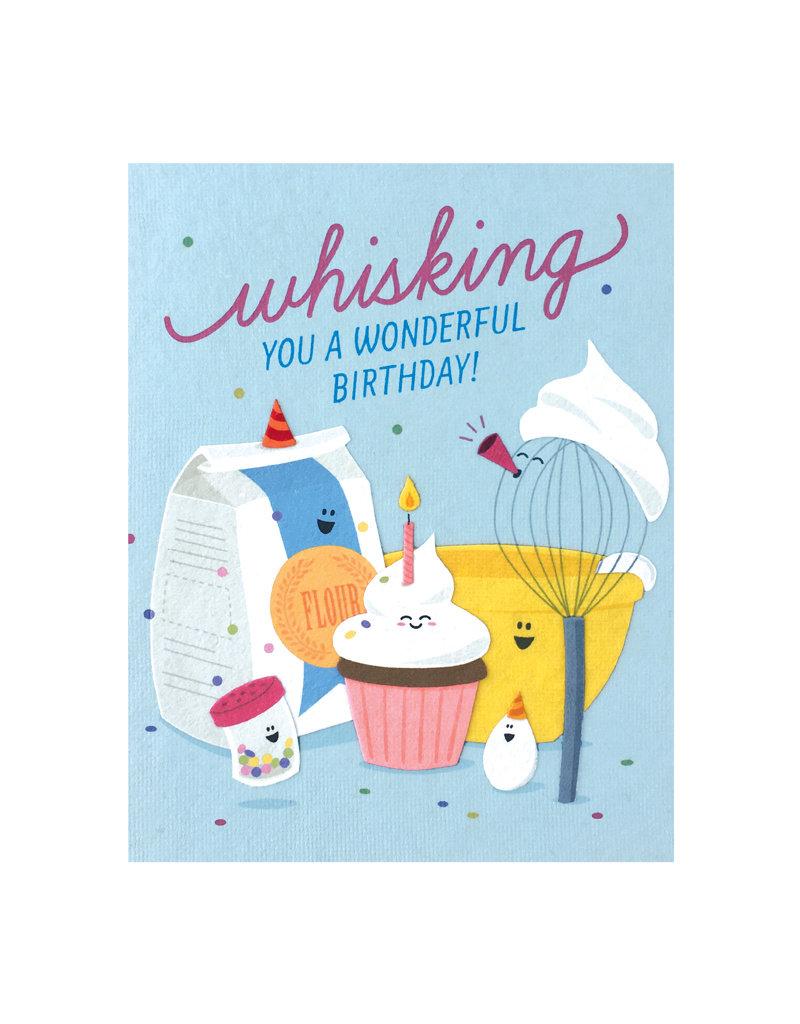 Good Paper Whisking Birthday Card