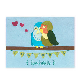 Good Paper Congrats Lovebirds Card