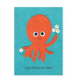 Good Paper Octopi My Heart Card