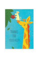 Good Paper Giraffe Help Card