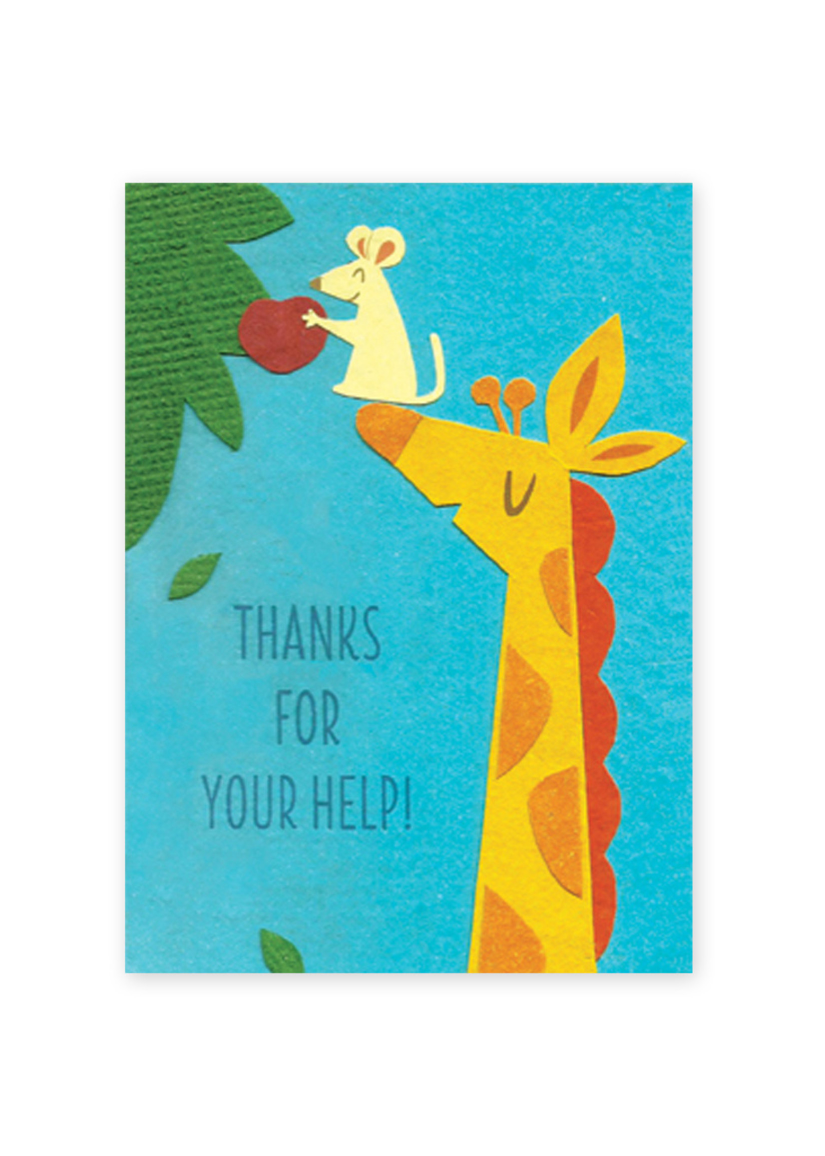 Good Paper Giraffe Help Card