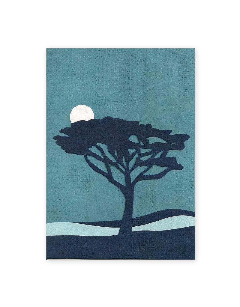 Good Paper Twilight Tree Card