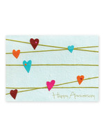 Good Paper Anniversary Hearts Card