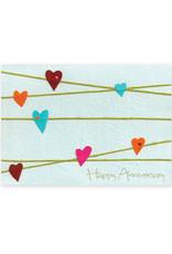 Good Paper Anniversary Hearts Card
