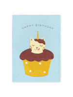 Good Paper Chocolate Cat Birthday Card
