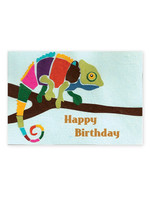Good Paper Chameleon Birthday Card