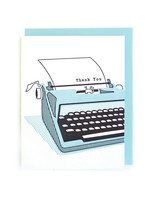 Good Paper Typewriter Thank You Card