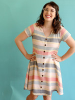 Mata Traders Summer Stripe Daydreamer Dress *Size XL Only*