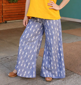 Passion Lilie Sky Blue Ikat Pants