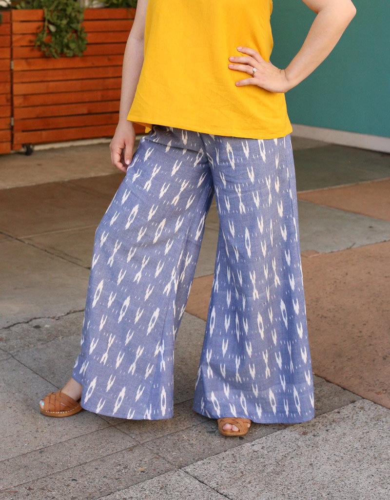 Passion Lilie Sky Blue Ikat Pants