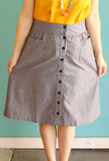 Passion Lilie Chambray Ikat Midi Skirt