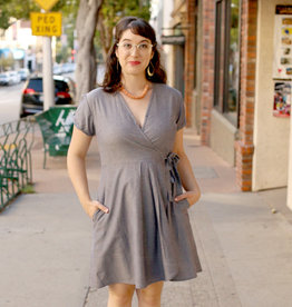 Passion Lilie Chambray Wrap Dress