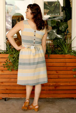 Mata Traders Cora Reversible Dress Sky Stripe