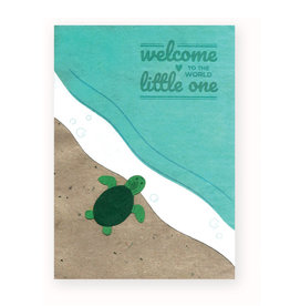 Good Paper Baby Turtle Congrats Card