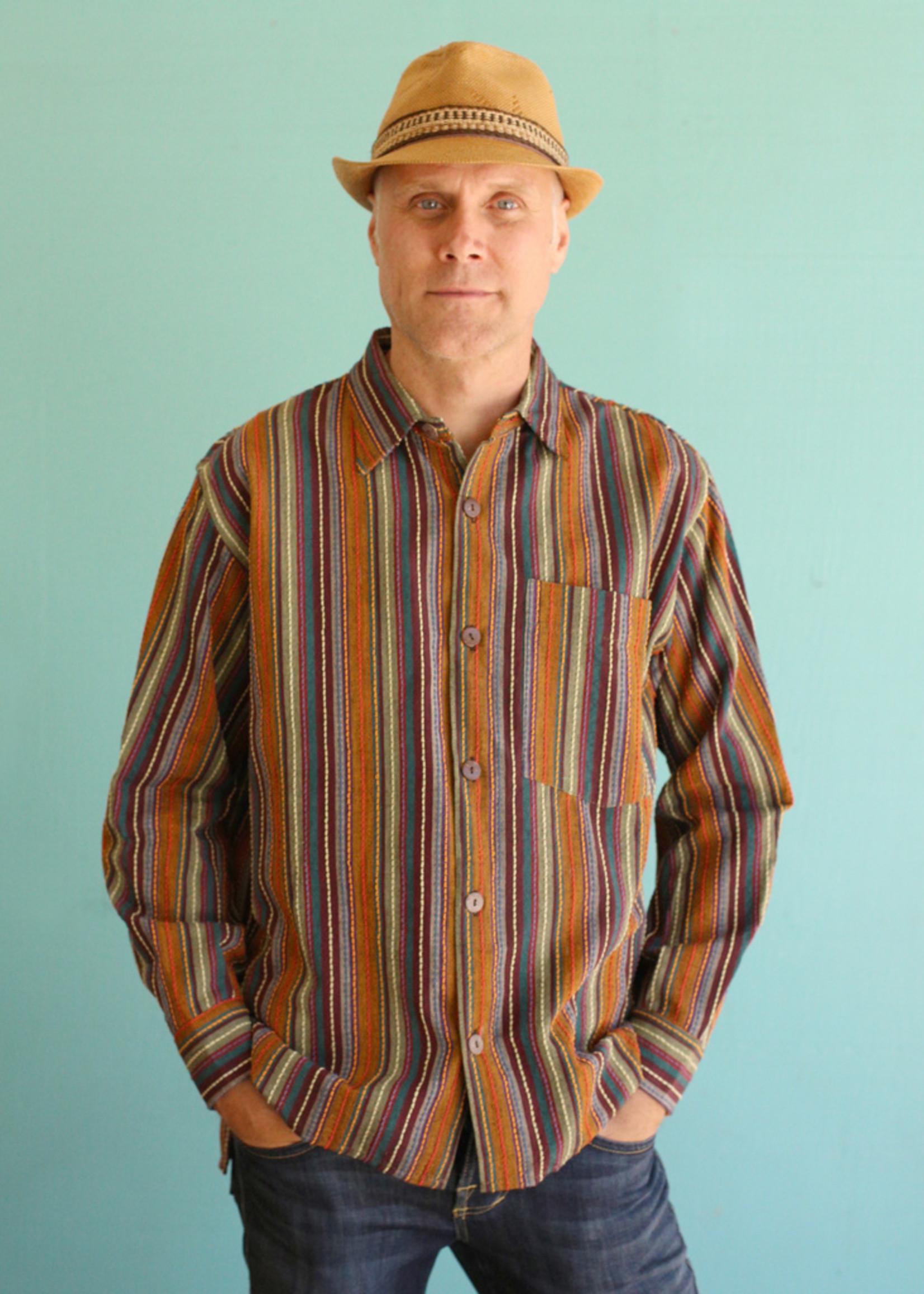 Ganesh Himal Autumn Stripe Shirt