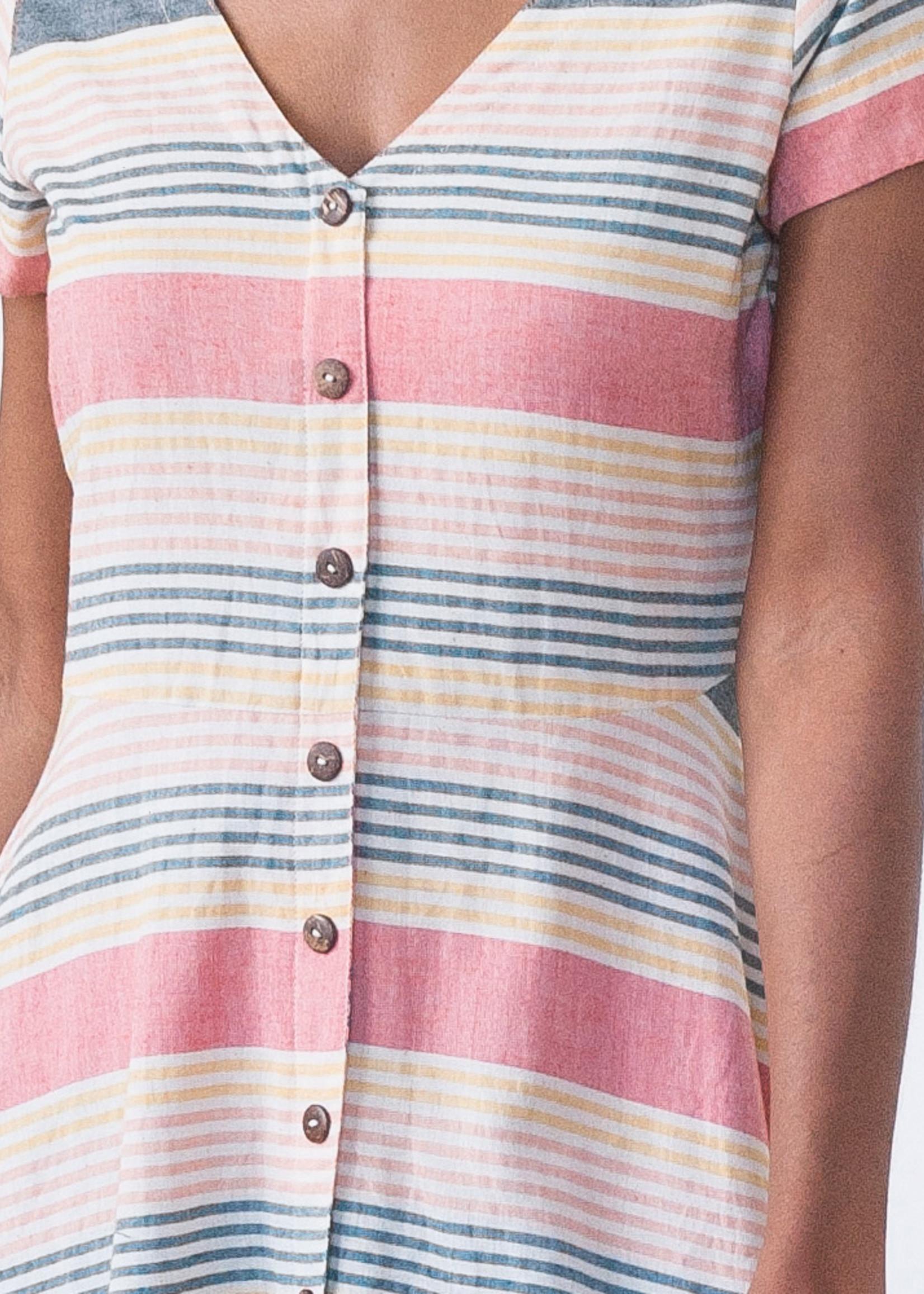 Mata Traders FINAL SALE Summer Stripe Daydreamer Dress *Size XL*
