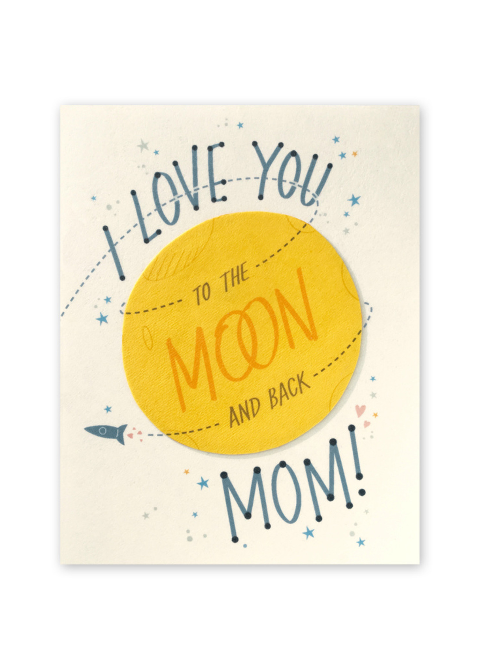 Good Paper Moon and Back Mom Card