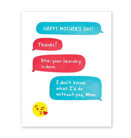 Good Paper Mother's Day Text Card