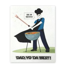 Good Paper Dad Yo Da Best Card