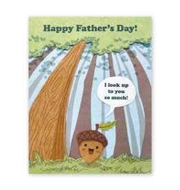 Good Paper Look Up Father's Day Card