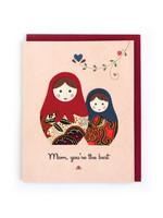 Good Paper Batik Nesting Dolls Card