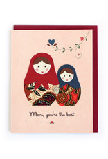 Good Paper Batik Nesting Dolls Card