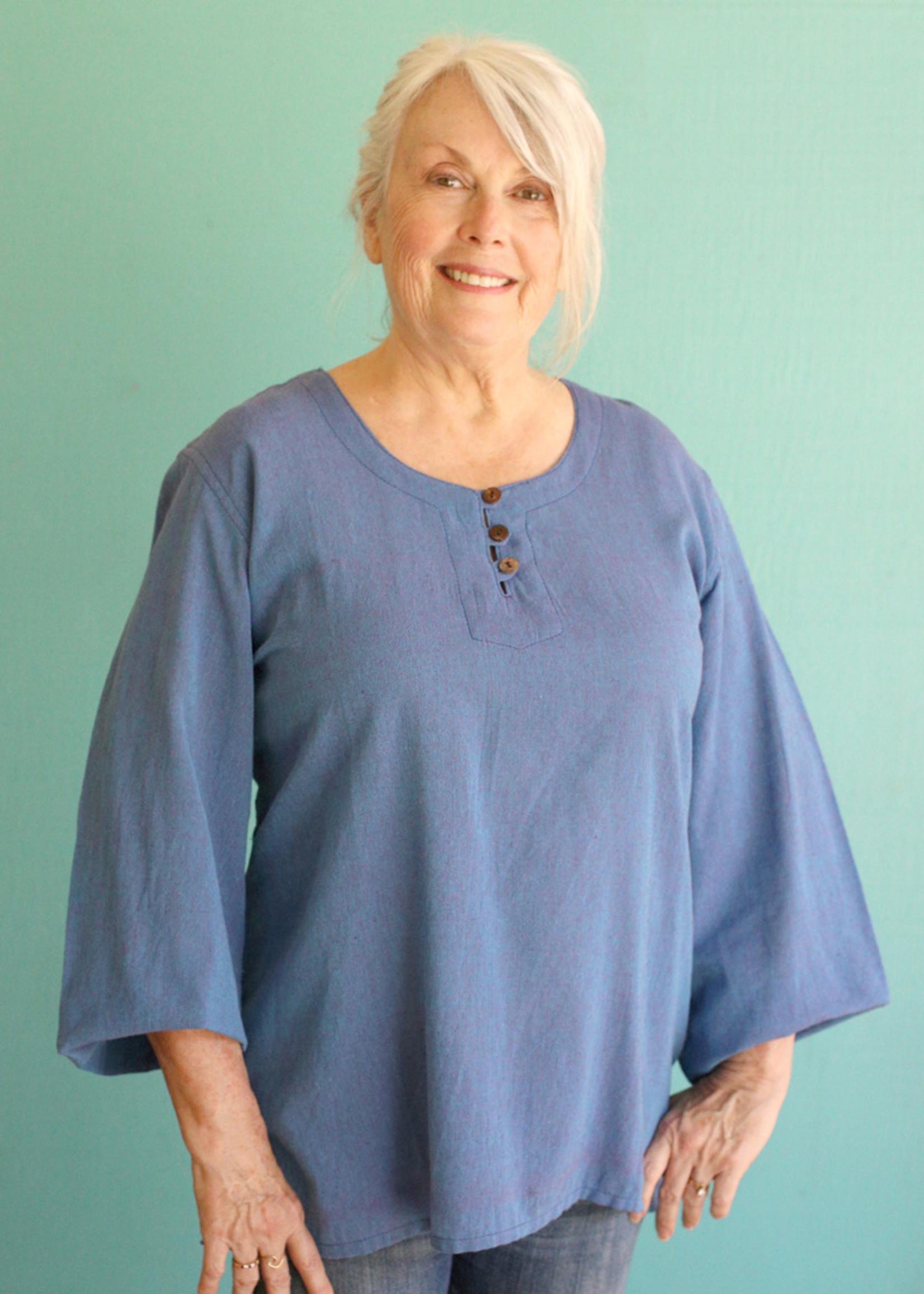 Ganesh Himal Light Blue 3 Button Shirt