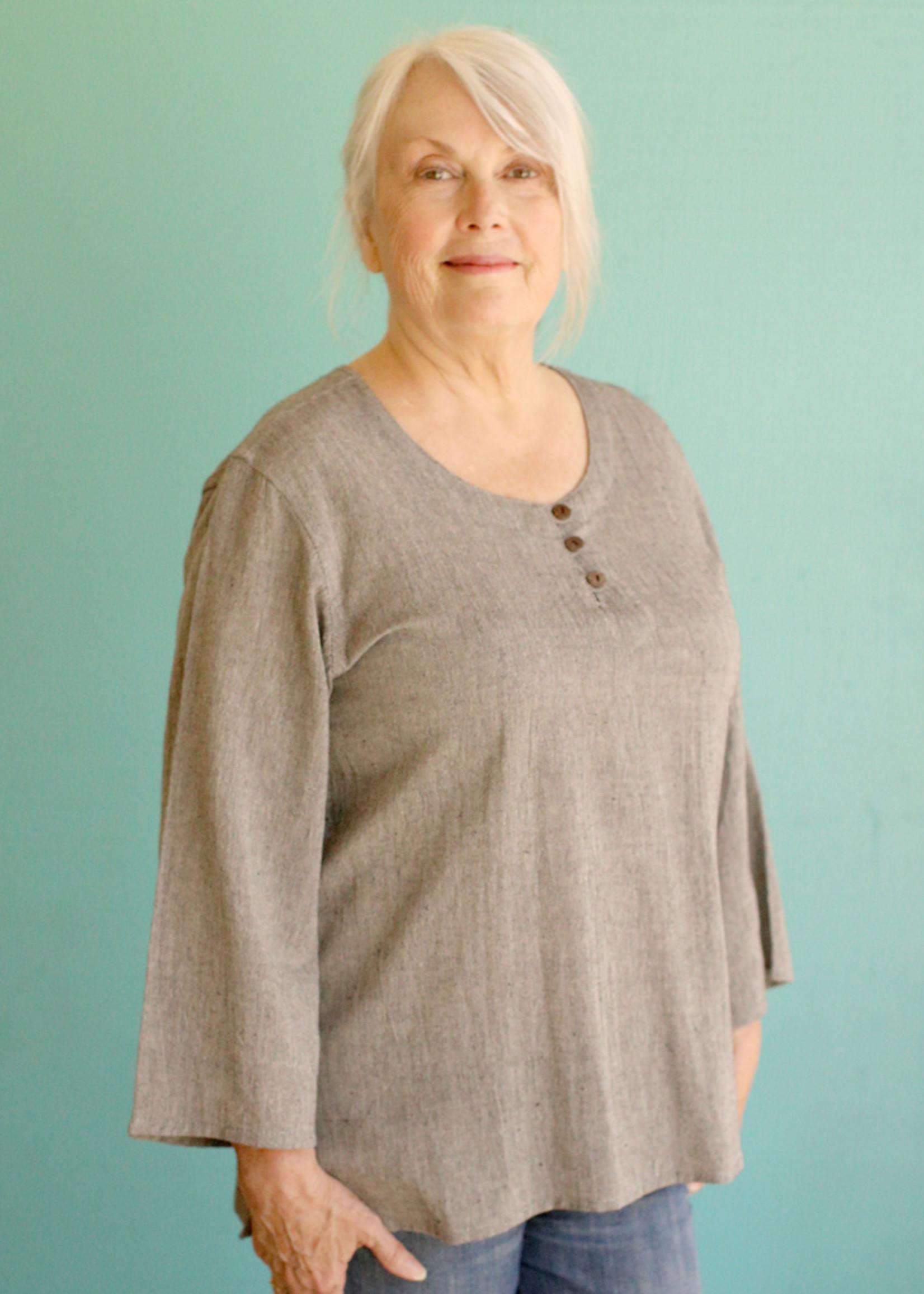 Ganesh Himal Grey 3 Button Shirt