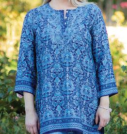 Cobalt Blue Deena  Tunic *Size Medium Only*