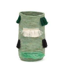Kazi Bayou Fringed Sisal Vase