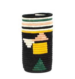 Kazi Black Neon Abstract Sisal Vase