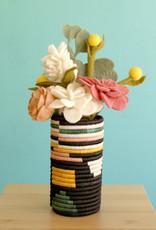 Kazi Black Neon Abstract Sisal Vase
