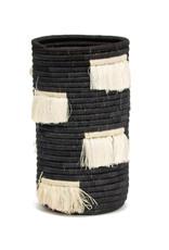 Kazi Black Fringed Sisal Vase
