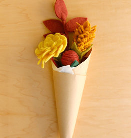 Global Goods Partners Autumn Felt Flower Bouquet