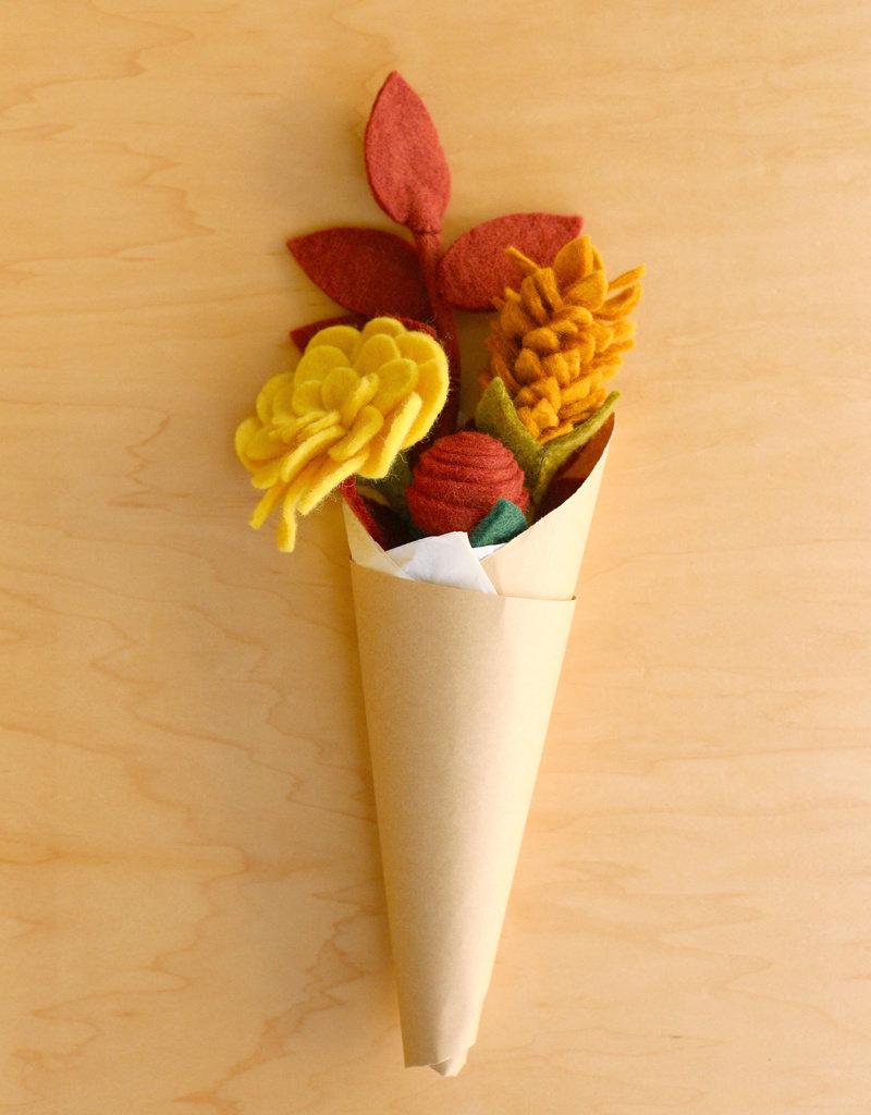 Global Goods Partners Autumn Felt Flower Bouquet