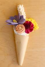 Global Goods Partners Colorful Felt Flower Bouquet